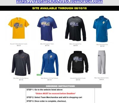 LAST DAY TO ORDER TROJAN APPAREL!