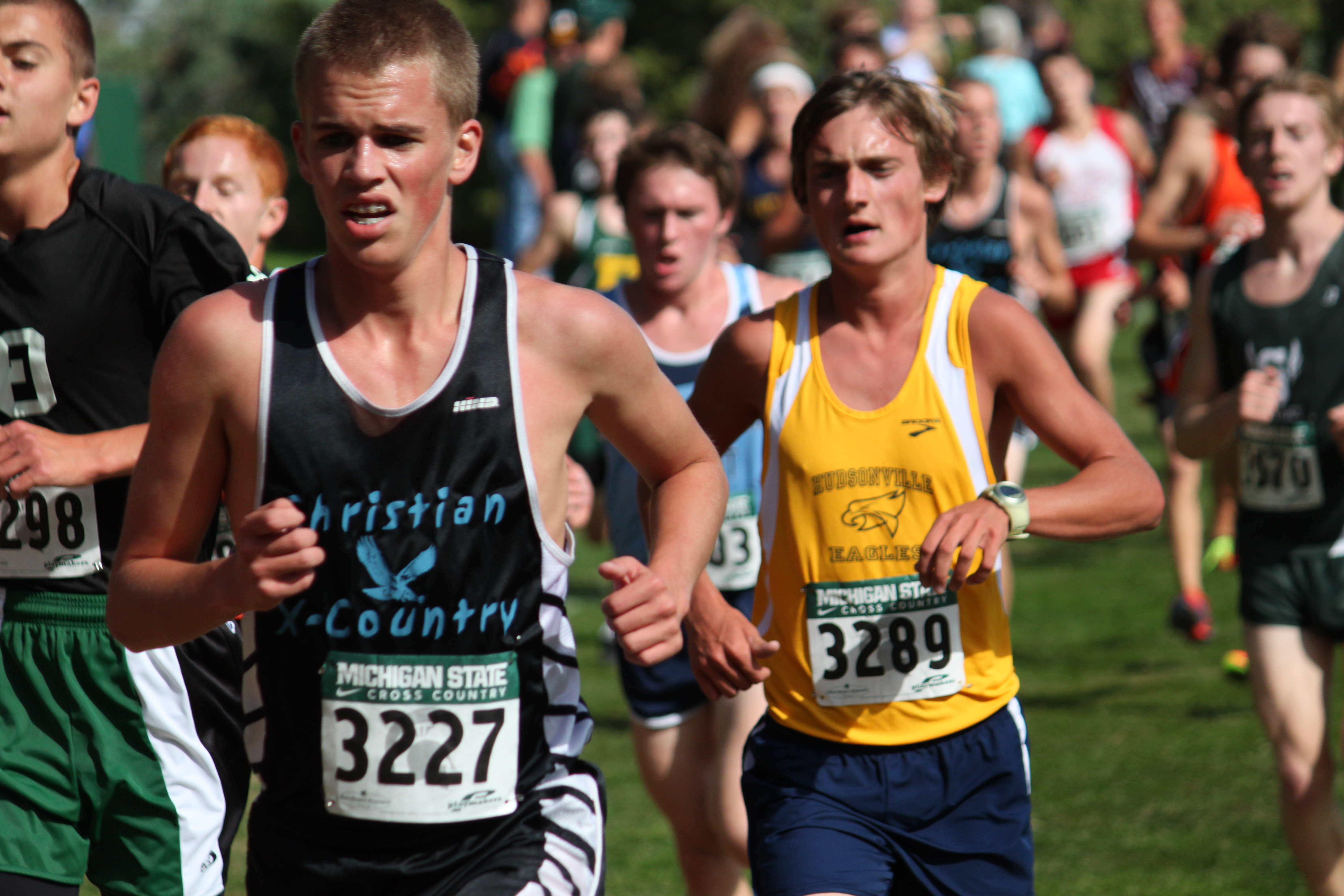 Hudsonville Boys Cross Country fights their way to second place
