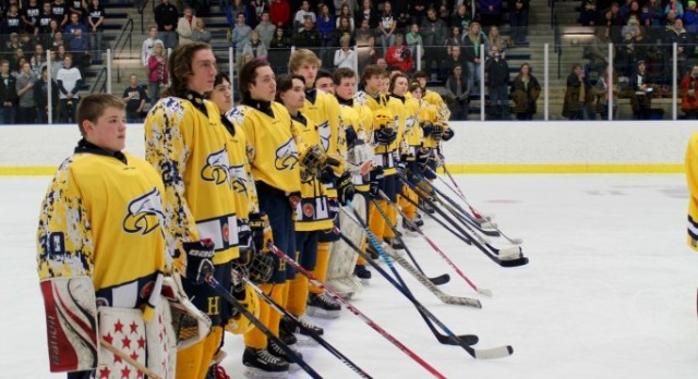 Help Hudsonville Get Recognized For Their Cool Hockey Jersey In Honor of Our Vets