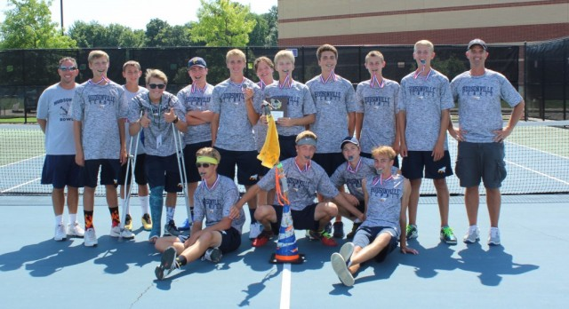 Boys Varsity Tennis wins 1st place at Caledonia Invite