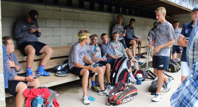 Boys Varsity Tennis v Mona Shores Rain Delay