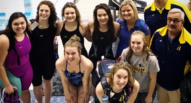 Girl's Swim and Dive Compete at State Finals