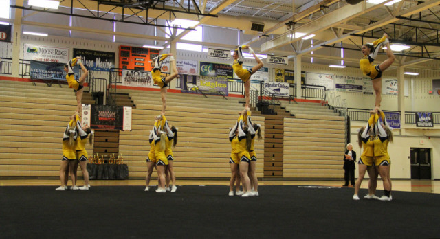Varsity Competitive Cheer Team Captures Championship at Hudsonville Invitational