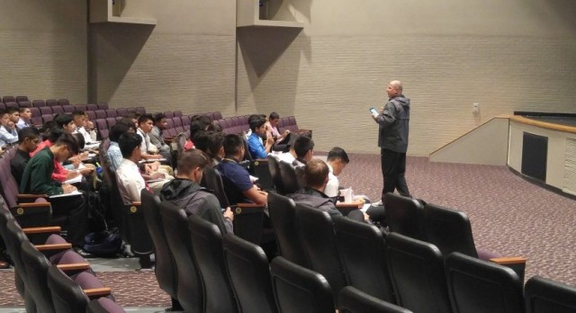 Boy's Soccer Team Gets Some Motivation From SAGU Men's Soccer Coach….