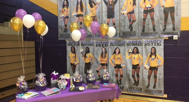 Check Out The Great Pics. From Volleyball Senior Night!!!