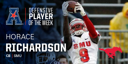 Horace Richardson (2012): AAC Defensive Player Of The Week
