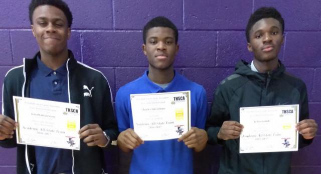 Boys Basketball: Academic All-State!!! = Charles Udevebure, Ledisi Gimah, Jonathan Jackson