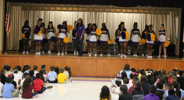Your EHS Varsity Cheerleaders Visit Bishop!!! Check Out The Pics….