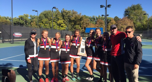 Park City High School Girls Varsity Tennis finishes 1st place