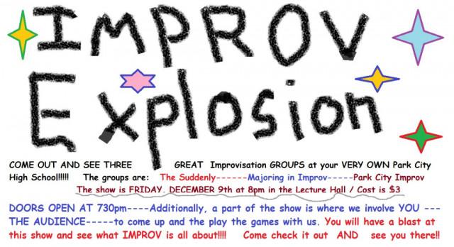 Improv Explosion Show Friday, December 9th