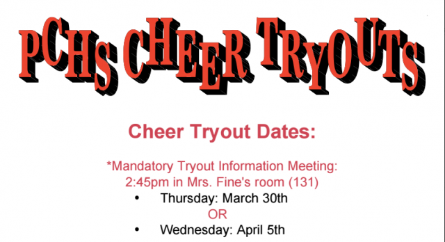Cheerleading Tryouts for 2017-18 School Year Have Been Set