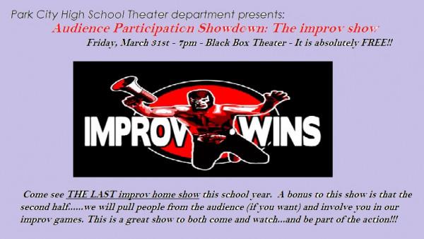improv show - March 31