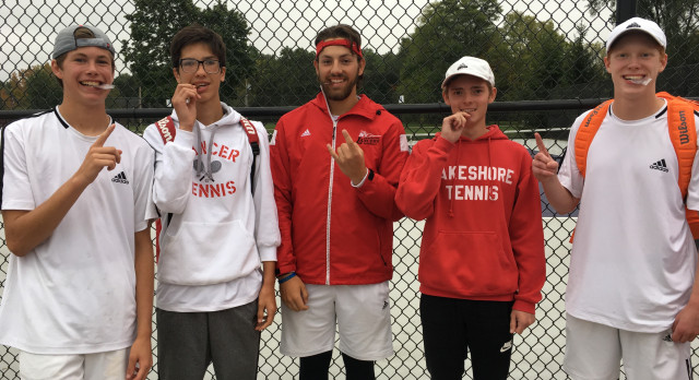 Lakeshore High School Boys Varsity Tennis finishes 3rd place