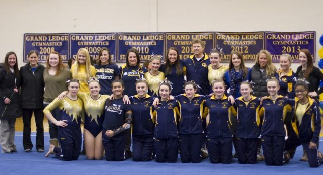Gymnastics Win Streak Reaches 100 with Victory over Haslett