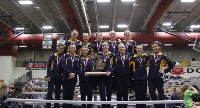 Great Gymnastics Season Ends with Runner-Up Trophy at MHSAA Finals