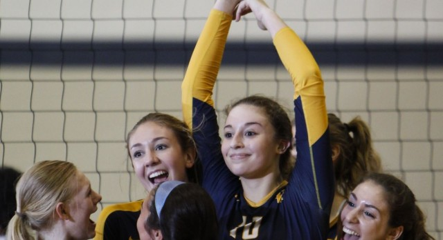 Volleyball Advances to District Championship Game with Thrilling 5-Set Victory over Waverly