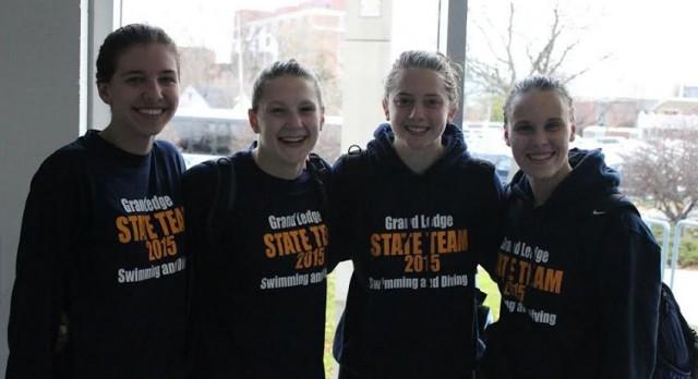 Grand Ledge Girls' Swim Records Broken at Division I State Final Meet
