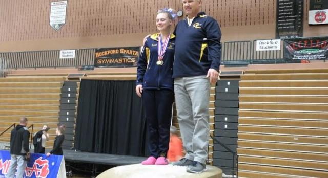Rachel Hogan Wins Gymnastics All-Around Title at MHSAA Finals
