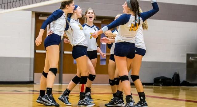 Volleyball Advances to CAAC Blue Tournament Semi-Final Tonight