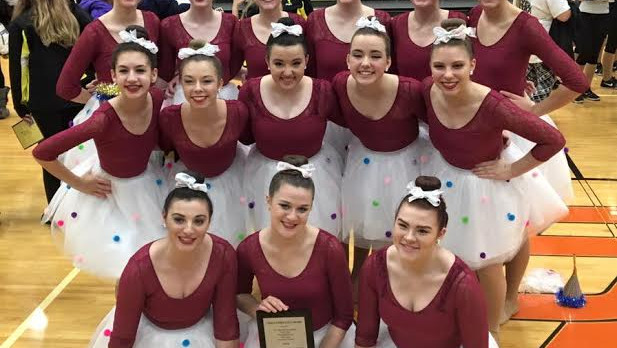 Pom Teams Score Top Trophies at Byron Center Invitational