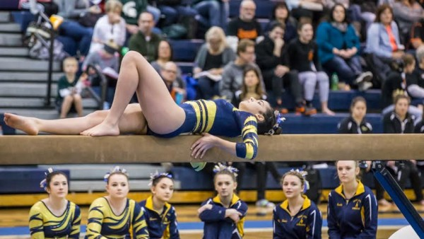 Gymnastics at EL Invite 18