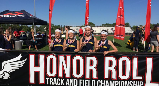 Middle School Relay Team Breaks Record at Honor Roll Meet