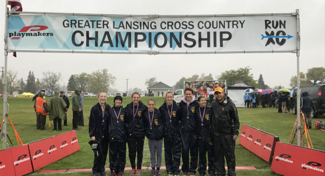 Girls Cross Country Places 2nd at 40-team Greater Lansing Championships!