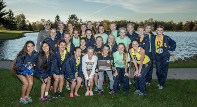 Grand Ledge Girls' Cross Country Team Wins CAAC Blue Championship!