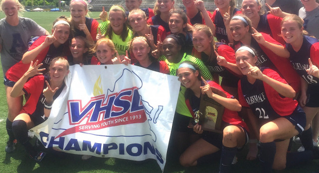 ALBEMARLE GIRLS SOCCER 5A STATE CHAMPIONS