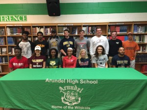 Fifteen Arundel Seniors from the Class of 2016 signed and have committed to play college athletics. Way to go, Wildcats!
