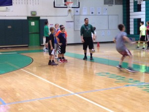 Arundel Varsity Boy's Basketball Coach Jeff Starr is proud of what the youth players are able to accomplish in Arundel's two-day fall basketball clinic.