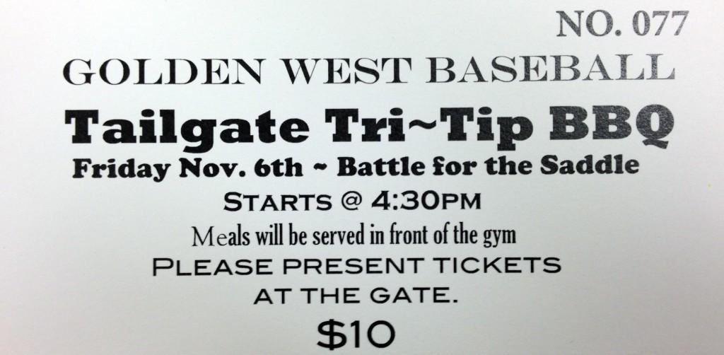 Saddle Tailgate BBQ