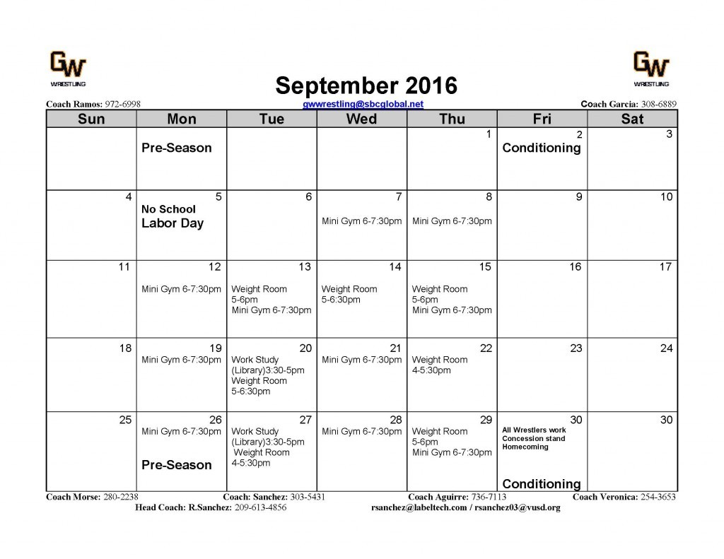 Pre-Season Sept.-2016 Wrestling
