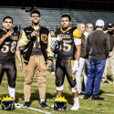 Varsity football vs Lemoore 10-6-17