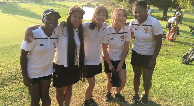 Valley Christian High School Girls Varsity Golf falls to Saint Joseph High School 296-303