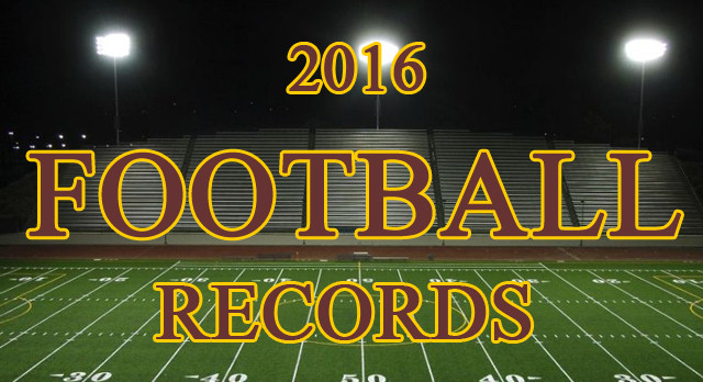 2016 Football Records