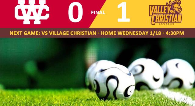 Valley Christian/Cerritos Boys Varsity Soccer beat Whittier Christian High School 1-0