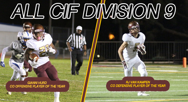VC Football Earns All CIF Honors