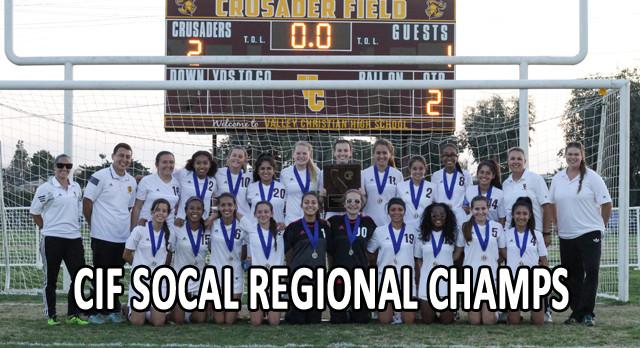 Valley Christian/Cerritos Girls Varsity Soccer beat Grace Brethren – State Championship 2-1