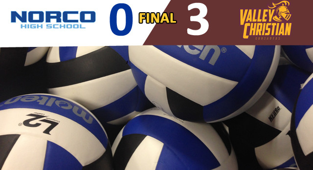 Valley Christian/Cerritos Boys Varsity Volleyball beat Norco High School 3-0