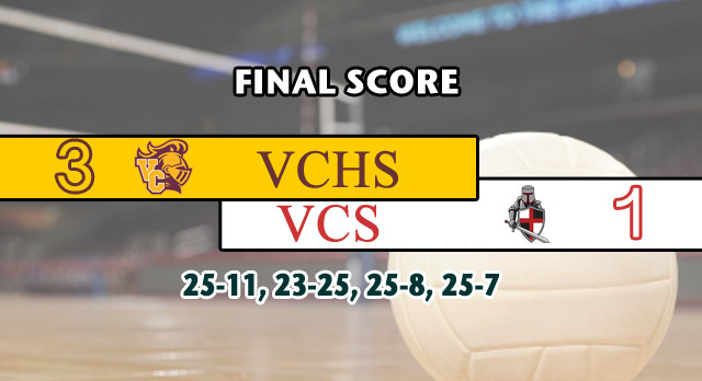 Valley Christian/Cerritos Boys Varsity Volleyball beat Village Christian High School 3-1