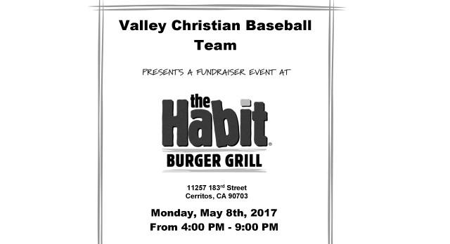 Baseball Habit Burger Fundraiser