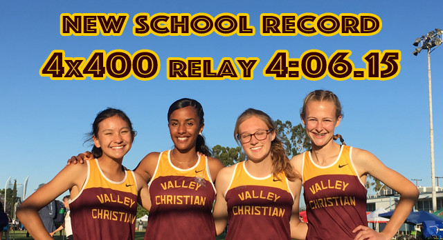 Girls 4×400 Breaks Own Record