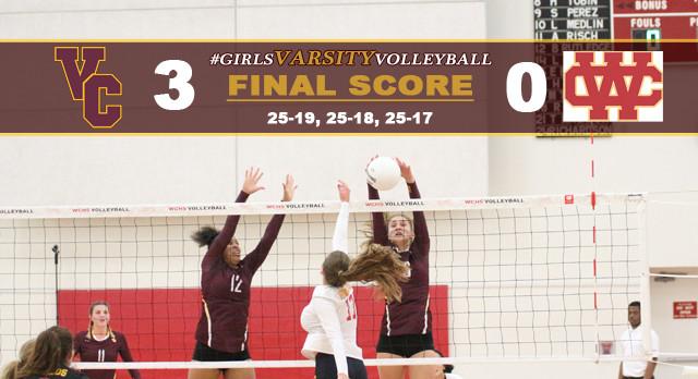 Girls Varsity Volleyball Defeats Whittier Christian