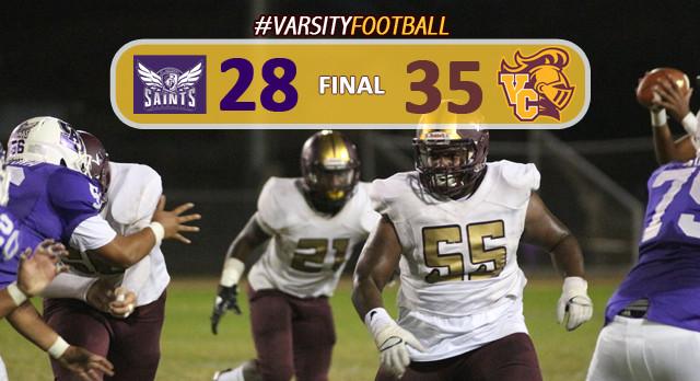 Varsity Football Defeats St. Anthony