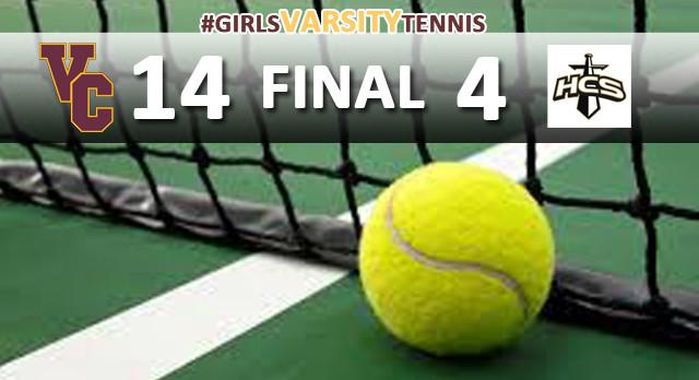 Girls Varsity Tennis Defeats Heritage Christian