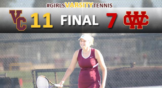 Girls Varsity Tennis Defeats Whittier Christian