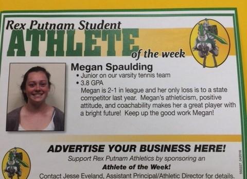 April 14th Athlete of the Week, Megan Spaulding
