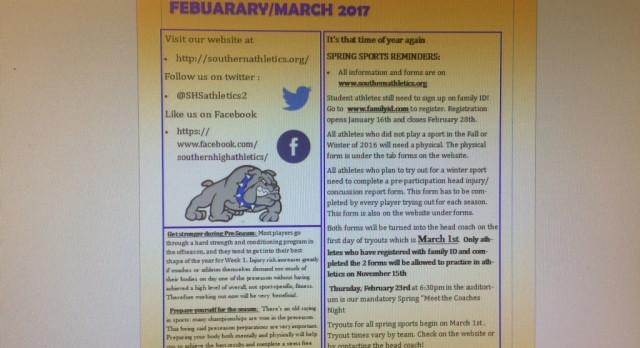 Spring Athletic Newsletter