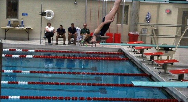 Patnode Fearless on Diving Board